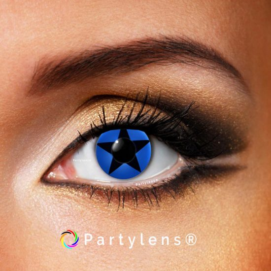 Star Blue contactlenzen www.partylens.nl Partylens®