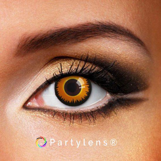Orange Wolf contactlenzen www.partylens.nl