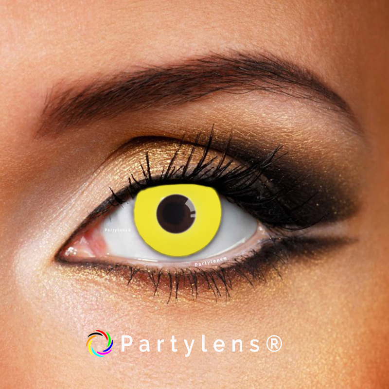 Gele contactlenzen