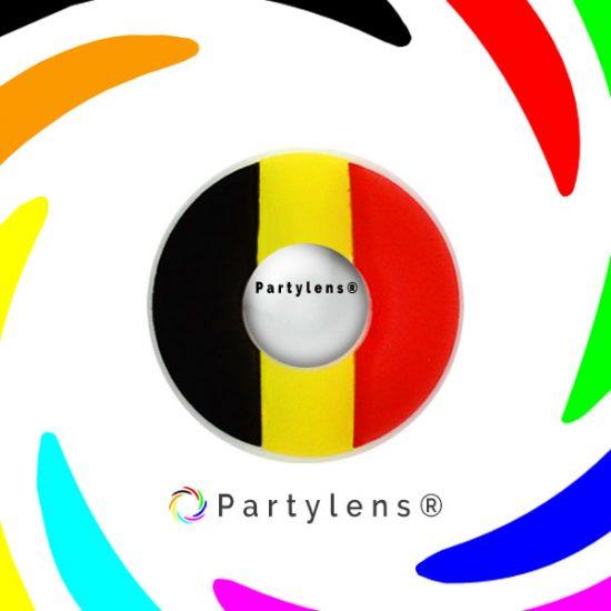 Vlag België contactlenzen www.partylens.nl
