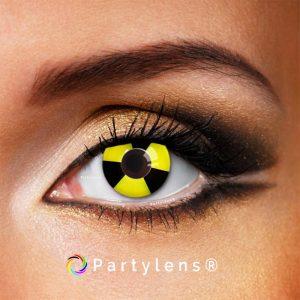 Bicolor Black-Yellow - kleurlenzen Partylens®
