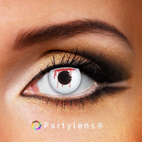 Bloed Druppels- Wit www.partylens.nl