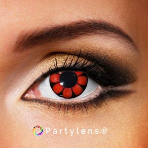 Daisy Red Black contactlenzen www.partylens.nl