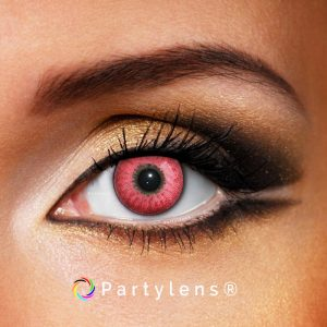 Shiny Red contactlenzen www.partylens.nl