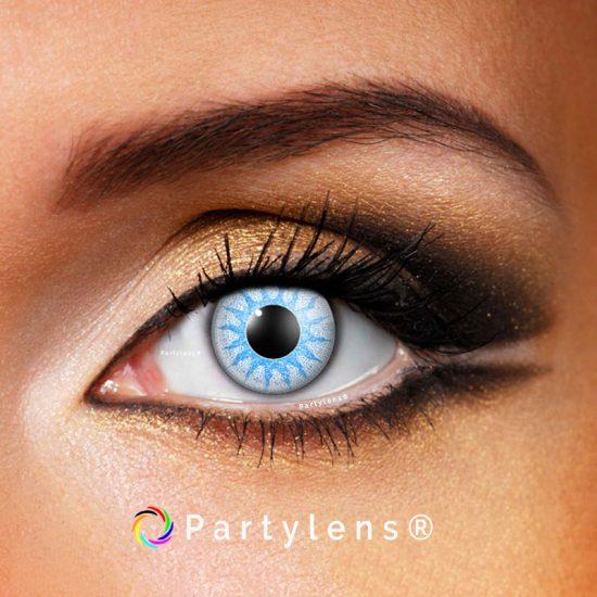 Solar Blue - kleurlenzen Partylens®