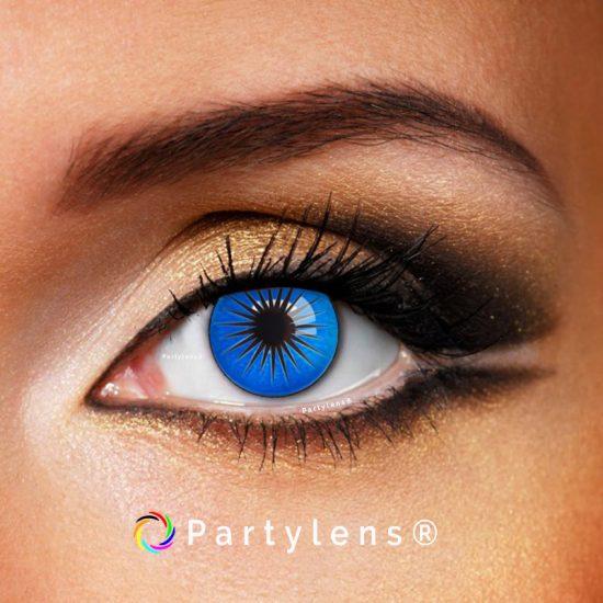 Blauwe Ster - kleurlenzen Partylens®