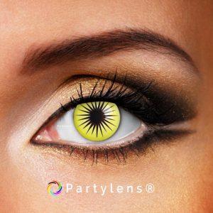 Gele ster - kleurlenzen Partylens®
