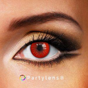 ster rood contactlenzen www.partylens.nl