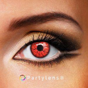vampier ogen rood www.partylens.nl