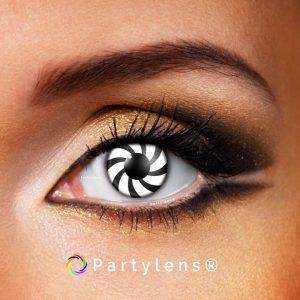 Zoom In zwart - wit kleurlenzen Partylens®