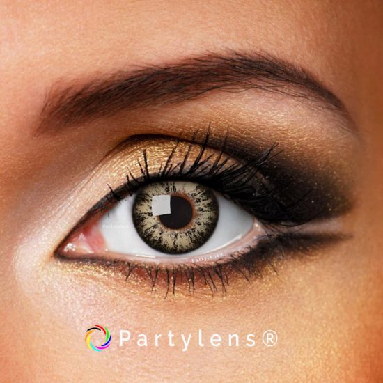 glossy brown contactlenzen www.partylens.nl