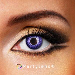 Purple Leopard contactlenzen www.partylens.nl