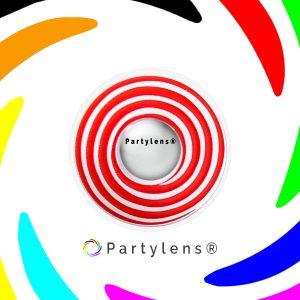 Spiraal Rood contactlenzen www.partylens.nl