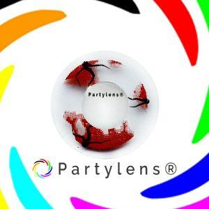 Spookje Rood contactlenzen www.partylens.nl